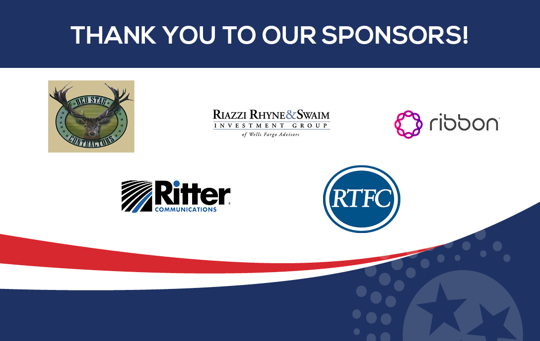 Thank you to our sponsors: RTFC, Ritter communications, ribbon, red stag contractors, riazzi rhyne and swaim investment group