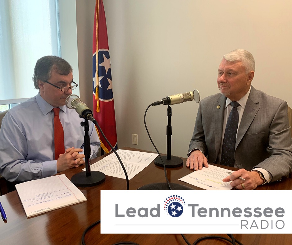 Levoy Knowles and State Representative Ron M. Gant, Assistant House Majority Leader sitting at a table recording a podcast