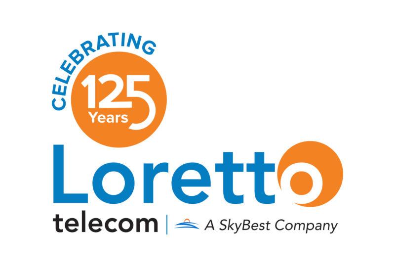 Loretto telecom logo, celebrating 125 years