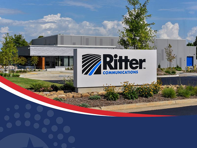 Ritter Communications building and sign