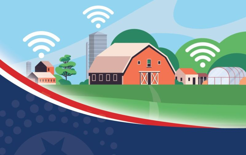 barn and house with wifi signals