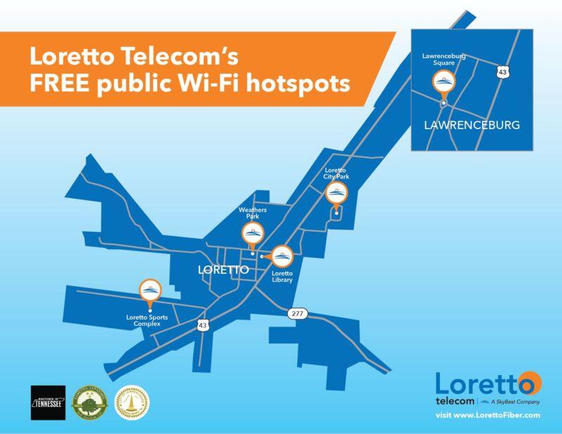 Loretto Free Wifi Hotspots